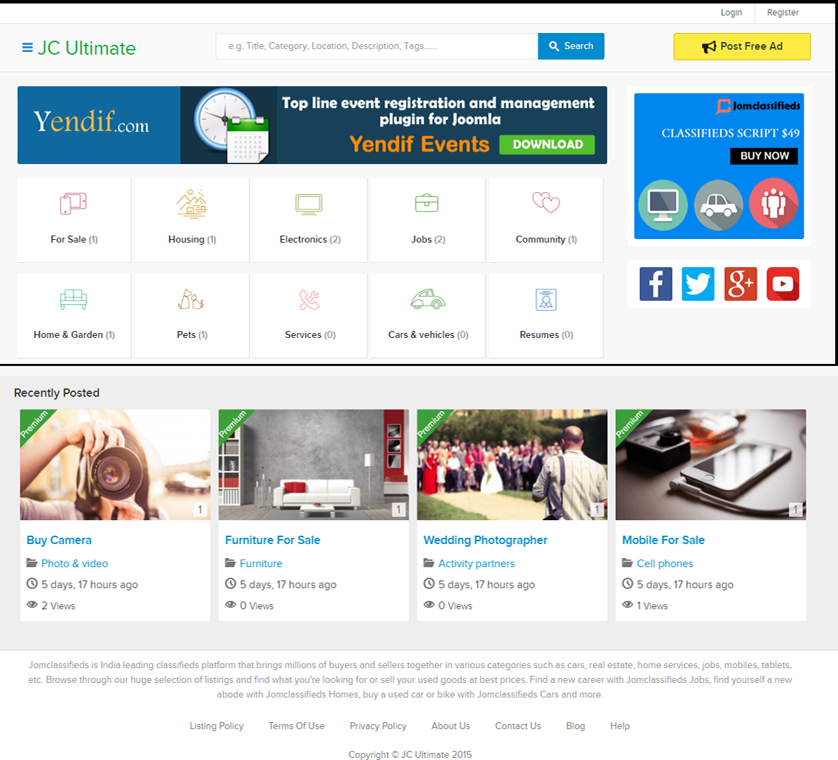 Jcultimate Templates - Best Joomla Classifieds Template | Themes