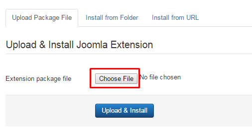 joomla extension upload path
